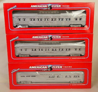 American Flyer Set Of (3) Western Pacific Illuminated Passenger Cars-New In Box!