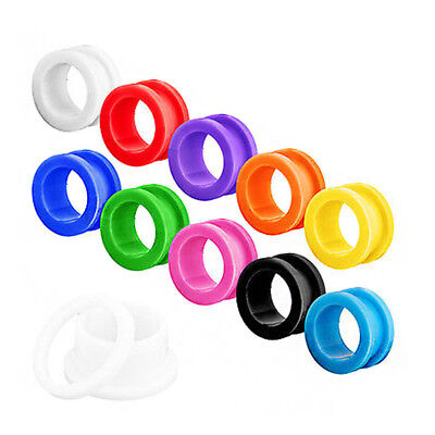 Pair Jelly Colour Acrylic Flesh Tunnel Ear Plug Stretcher Screw Fit Gauge 2-16mm