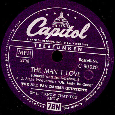 ART VAN DAMME QUINTETTE The Man I love / I know that you know; Modern-Jazz S8748