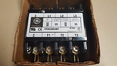 GE Ind. 4 Pole Contactor 40 AMP 120V Definite Purpose Lighting AC CR353AB4AB1