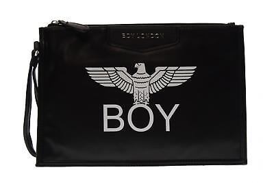 Boy London pochette donna ecopelle con stampa BLA-17 NERO A17