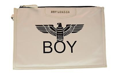 Boy London pochette donna ecopelle con stampa BLA-17 BIANCO A17