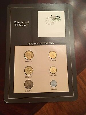 Franklin Mint Coin Sets of All Nations-Republic of Finland- 1980's