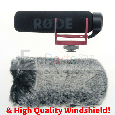 NEW Rode Videomic GO On Camera Shotgun Rycote Lyre Onboard Microphone Windshield