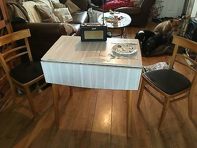Formica retro table and chairs 1960s