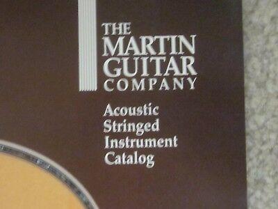 Martin guitar company- acoustic stringed instrument catalog,very nice shape,1990