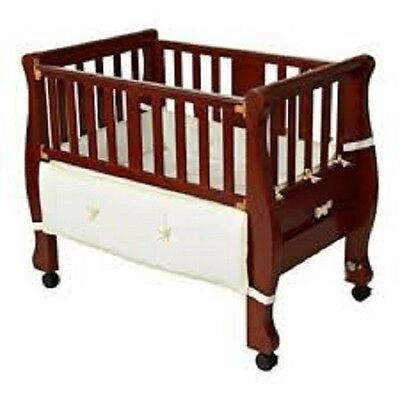 Arm's Reach Co-Sleeper Bassinet Sleigh Baby Bed Cherry Great Condition PICK UP