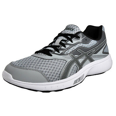 Asics Stormer Men's Running Shoes Fitness Gym Workout Trainers Grey