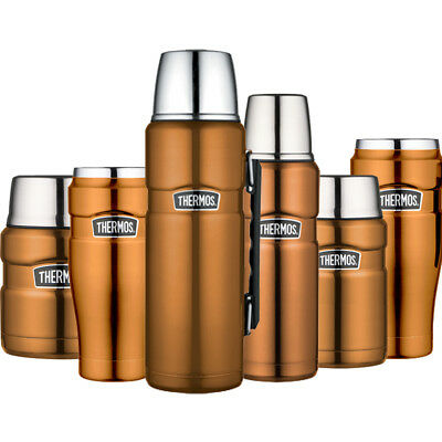 Thermos King Tea Coffee Food Drink Travel Flask Cup Mug Copper