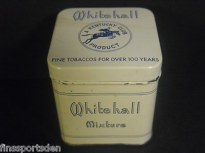 Vintage WHITEHALL MIXTURE MAIL POUCH KENTUCKY CLUB Advertising Tobacco Tin