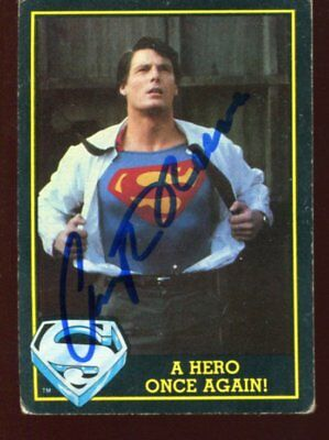 SUPERMAN actor CHRISTOPHER REEVE autograph HAND SIGNED 1751