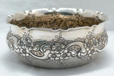 Antique Whiting Sterling Silver Repousse Bowl c1894 303 grams Not Scrap