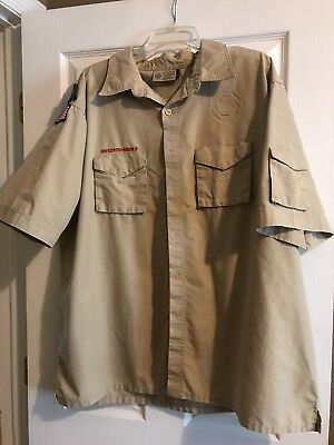 Boy Scout Uniform Shirt Adult 2XL EUC