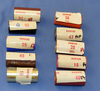 "10 2"" Rolls of Howard Hot Stamping Foil     -a"