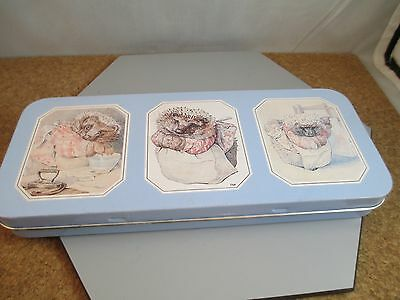 1990 Hunkydory Designs Frederick Warne & Co - Made in England Hedgehog Tin