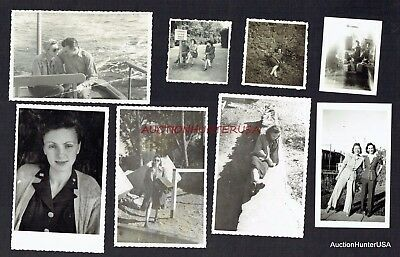 Ww2 Wac Original Photo Lot Of (8) Us Army #1