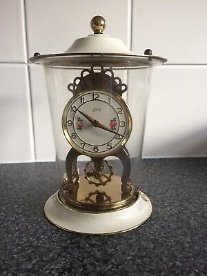 Vintage Schatz 8 Day Mantle Clock Working