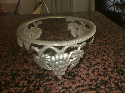 Heavy Vintage French   Metal Stand...lovely Vines & Grapes Design...