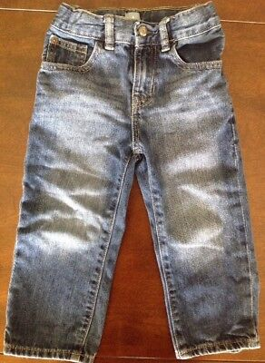 Baby Gap Straight Leg Jeans 2T Toddler Denim Adjustable Waist Boys