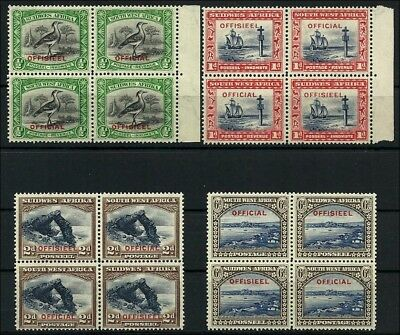 (5405) SWA  Dienstmarken, Officials 1931, very fine set in mint n.h. blocks of 4