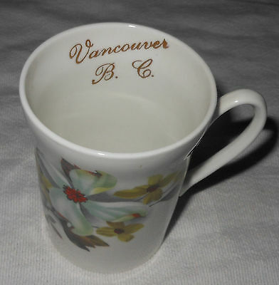 Crown Prince Bone China England 1835 Vancouver B.C. Floral Dogwood Mug Gold Trim