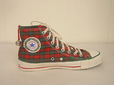 Vintage 1980s Converse Christmas Chuck Taylor gym shoes bells made in U.S.A. 7