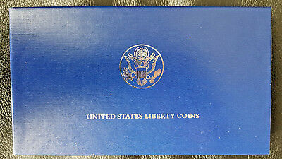 1986 US Liberty Coins Commemorative $1 Proof Silver Dollar 2 Coin Set
