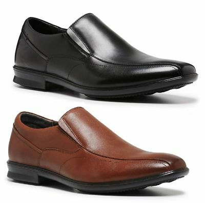 Mens HUSH PUPPIES CALLAN WIDE FORMAL/DRESS/WORK/CASUAL/LEATHER SHOES -CHEAP