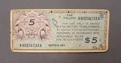 Well Used Series 461 $5.00 Mpc Note