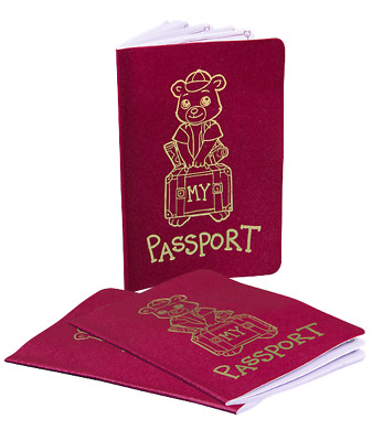 Teddy Bear Passport For Any Teddy Bear Going On A Long Journey