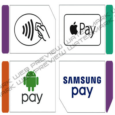 apple pay,samsung pay,android pay,tap pay, decals,stickers,credit card