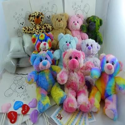 """Have a 8"""" /20cm Build Make a Teddy Bear Splodge Party at Home - no sew-4-14 kits"""