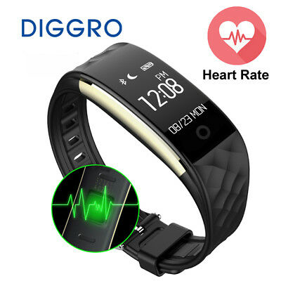 Diggro S2  heart rate + fitness wristband & Waterproof