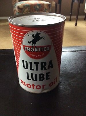 Vintage Frontier ultra lube motor oil can 1 quart