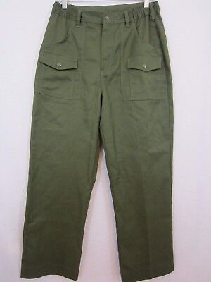 BOYS BSA Boy Scouts of America Cargo Uniform Pants Green - Size 32 Waist
