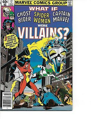 What If #17 Spider-Woman Ghost Rider Capt Marvel High Grade VF/NM 1979