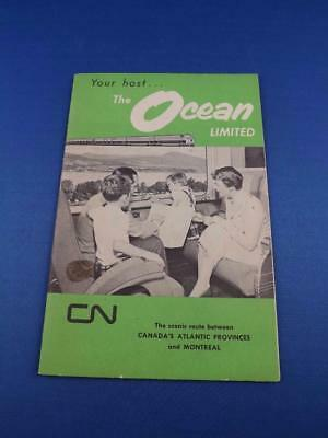 Your Host The Ocean Limited Cn Railway Scenic Route Atlantic Montreal Brochure
