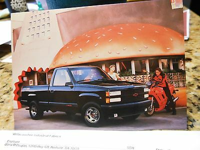"1990 Chevrolet ""454"" Ss Truck Nos Post Card"