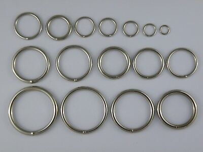Circle O Rings Welded Wire Nickel Nickle Round Rings Various Sizes Handbags Ring