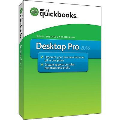 Intuit QuickBooks Desktop Pro 2018 Small Business Accounting Software [PC Disc]