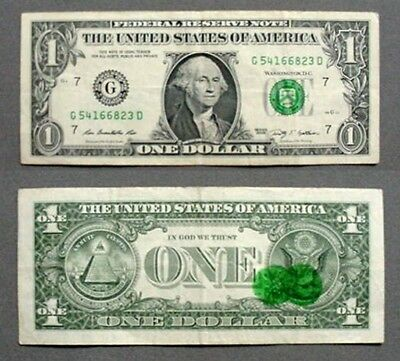 Interesting 3Rd Printing Offset Error On $1.00 Federal Reserve Note