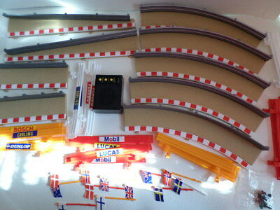scalextric borders, barriers, flags & sound box