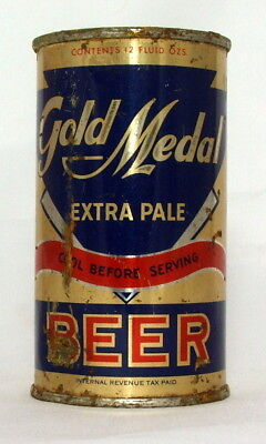 Gold Medal Beer 12 oz. Flat Top Beer Can-Opening Instructions-Santa Rosa, CA.
