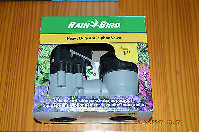 Anti-Siphon Irrigation Valve Control Sprinkler Electric Rain Bird Flow 1 inch