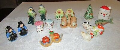 LOT 19 pc. Vintage Salt & Pepper Shakers 5 Sets + 5 others- Japan + Occupied