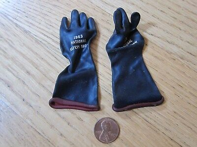 Vintage Advertising Miniature Rubber Gloves Pioneer Stanzoil