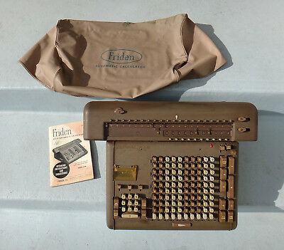 Friden Vintage Electronic Calculator Model STW10 549311 + Accessories - As Is