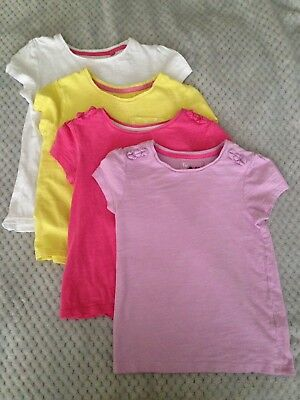 Girls t-shirts X4 Age 4-5 TU Sainsbury's