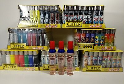 Clipper Lighters  $0.75/unit -48pcs- Wholesale US Seller!! w/ FREE 18ml Butane!!