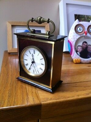 Swiss Made Scholer Marble And Brass Carriage Clock Quartz Vintage